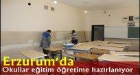 Erzurum'da Okullar eğitim öğretime hazırlanıyor
