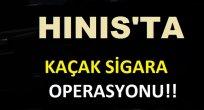 Hınıs'ta Kaçak Sigara Operasyonu!