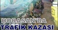 HORASAN'DA TRAFİK KAZASI