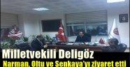 Milletvekili Deligöz Narman, Oltu ve Şenkaya'yı ziyaret etti