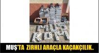 Muş'ta Zırhlı araçla kaçakçılık