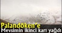 Palandöken'e mevsimin ikinci karı yağdı