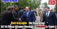 Vali Azizoğlu İlk İlçe Ziyaretini  Tekman'a Yaptı