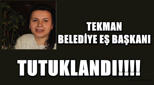 TEKMAN BELEDİYE EŞ BAŞKANI TUTUKLANDI!!