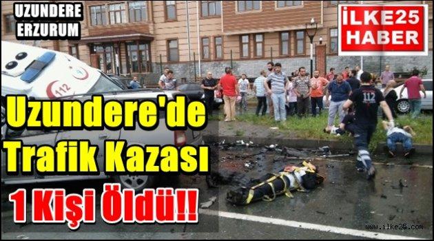 Uzundere'de Trafik Kazası!!!