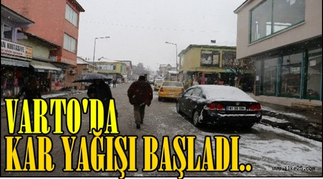 Varto'da Kar Yağışı Başladı