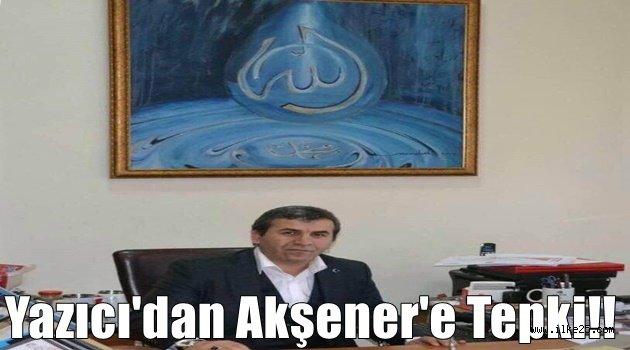 Yazıcı'dan Akşener'e Tepki!!