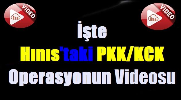 İşte Hınıs'taki PKK/KCK Operasyonun Videosu