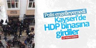 HDP binasına girmek isteyenleri polis engelleyemedi